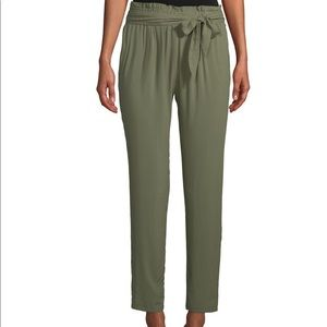 NWT BCBGMAXAZRIA Casual Belted Pants